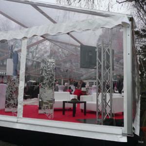 Transparentní plachty - párty stany od AB Party